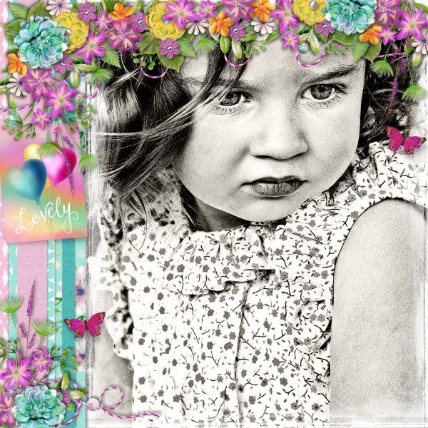 Kit Emotional Spring by Valentina Creations. Template Mix It Up #2 by Heartstrings Scrap Art. Photo per kind favour of Marta Everest Photography.