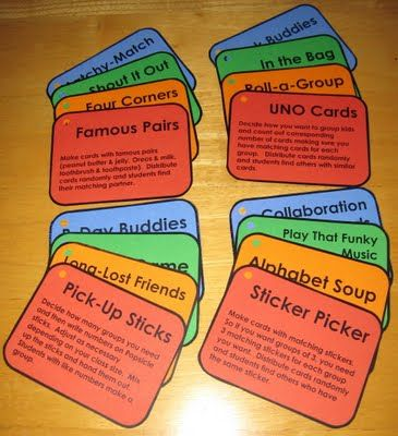 Fun ways to group students - Free download