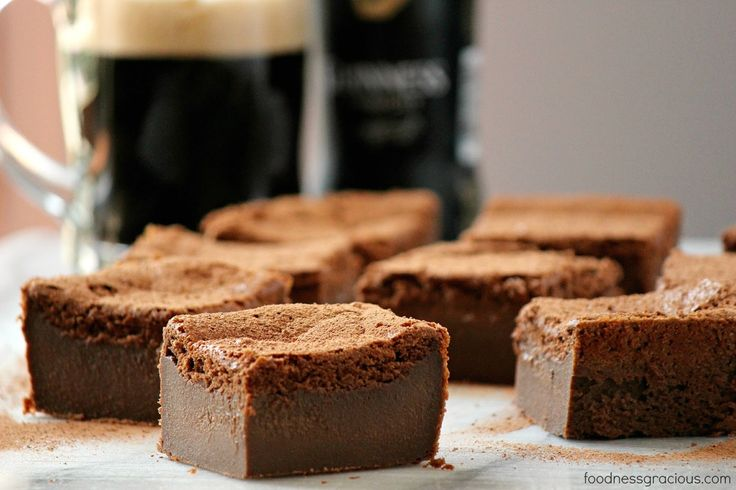 Chocolate Guinness Magic Cake - not overly sweet, enough beer that you can just taste it, and a melt-in-your-mouth creamy chocolate center - what's not to love?