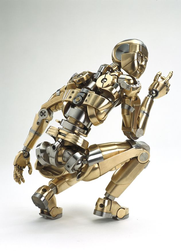 How beautiful is the this little mechanical sculpture. Its joints work too, and it's so beautifully crafted.