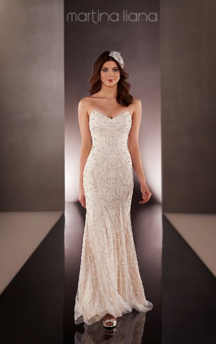 Slim Wedding Dresses | Wedding Dresses | Martina Liana might be to much beading ?