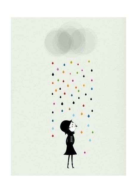 Mademoiselle under the rain print by Blanca Gomez (via http://cosasminimas.com/ )