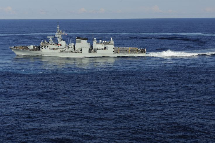 HMCS Vancouver - About Turn!