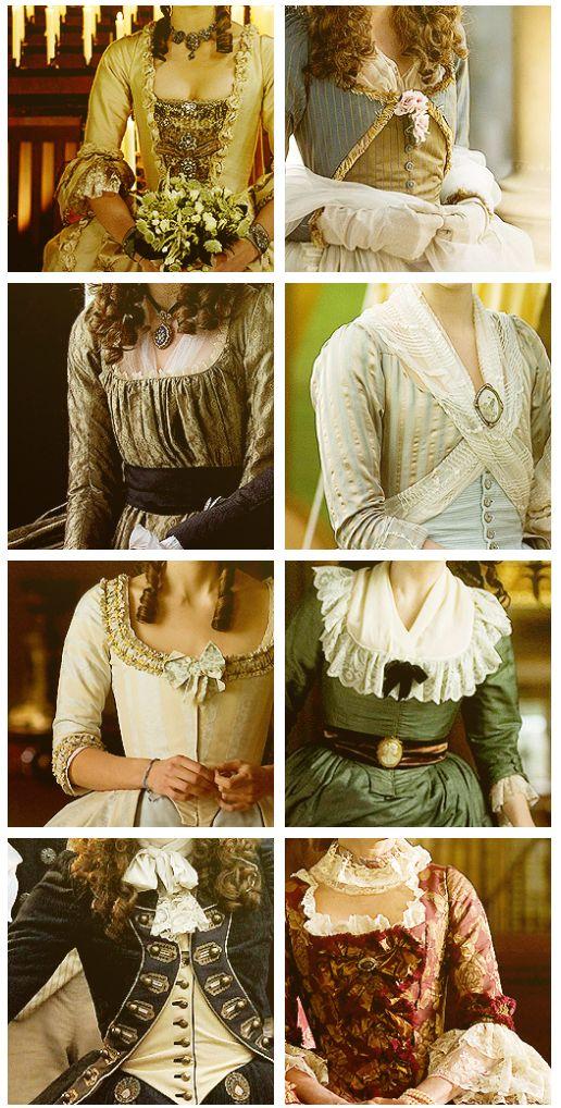 Différents hauts: -Robes à la française -Robe à la turque -Robes à l'anglaise -Robe redingote