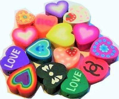 12+st+hjärtan+mix+färg+och+mönster
