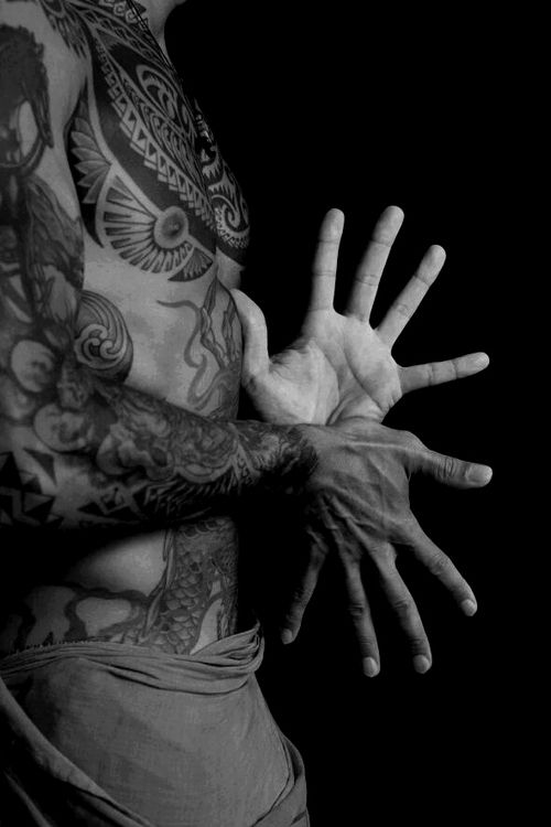 Beautiful hands and ink