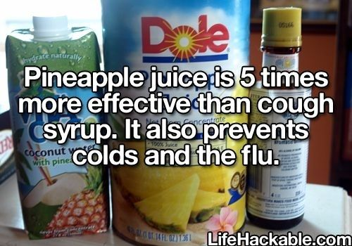Drink pineapple juice for some of the awesome health benefits. | 14 Fruit Hacks That Will Simplify Your Life