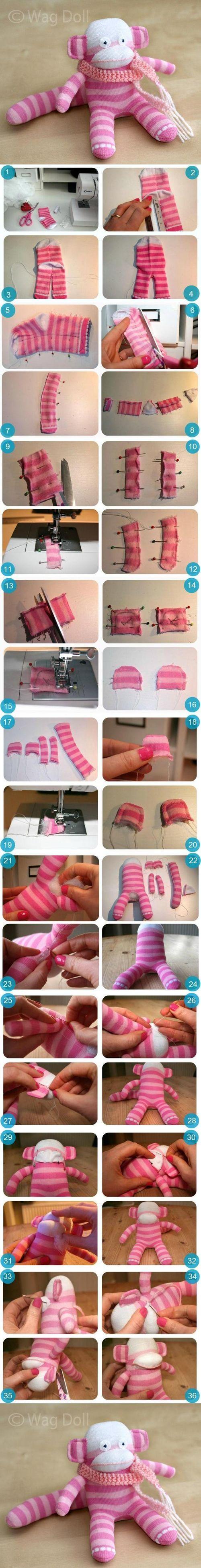 DIY Sock Monkey DIY Projects / UsefulDIY.com