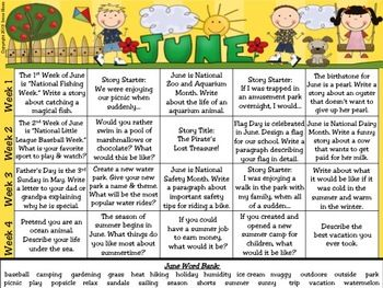 writing prompt calendar Calendars for kids  creative writing journal topics lots of creative writing worksheets with prompts that spark students' imagination.