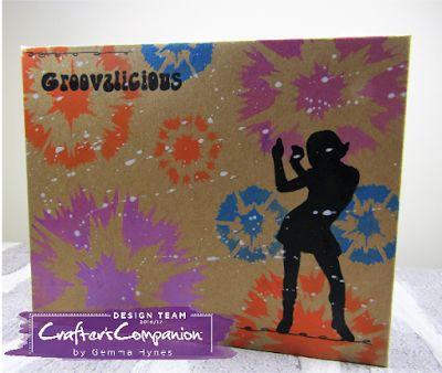 Swinging 60s Mini Book using Sheena Douglass stamps and stencils by Gemma Hynes #crafterscompanion #sheenadouglass #minialbums