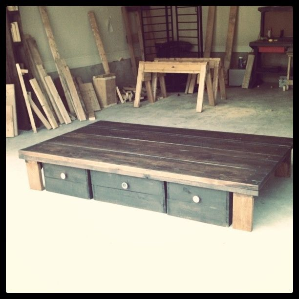 diy bed with storage - Google Search