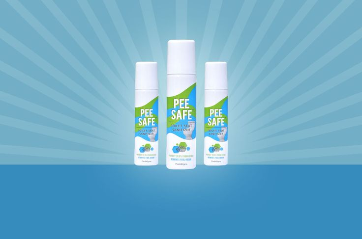Let the worry of using a public restroom not hassle you anymore. Armyourself with a can of PEE SAFE toilet sanitizer to protect yourself from unhygienic conditions. For complete personal hygiene protection, Just:  #PEESAFE