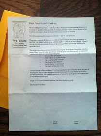 ALUMINUM FOILED: Primary Program Parent Letter