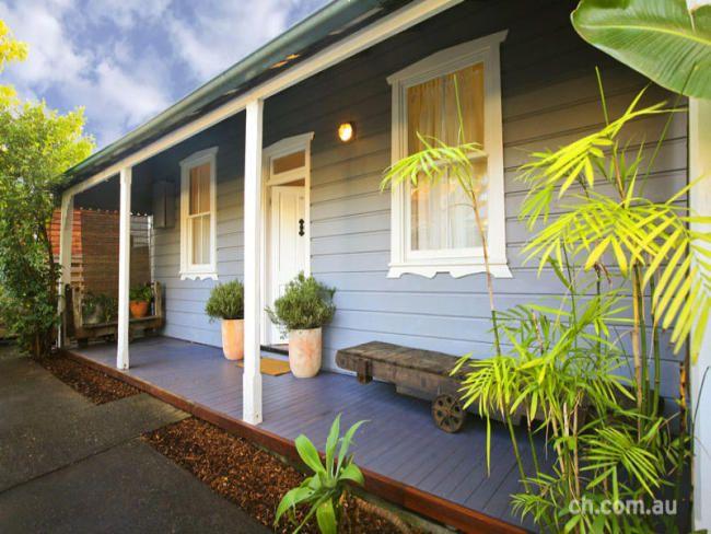double-grey house white trim