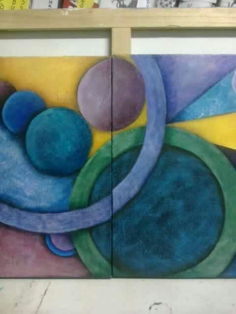 Acrylic abstract art