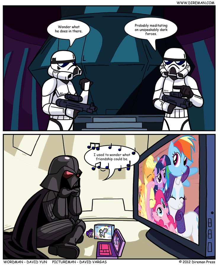 Of course, Darth Vadar died before my little pony was made, but you know what? Who cares!?