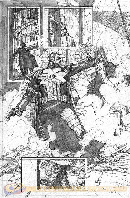 First Look At Leinil Yu's Pencils From PUNISHER: TRIAL OF THE PUNISHER #1