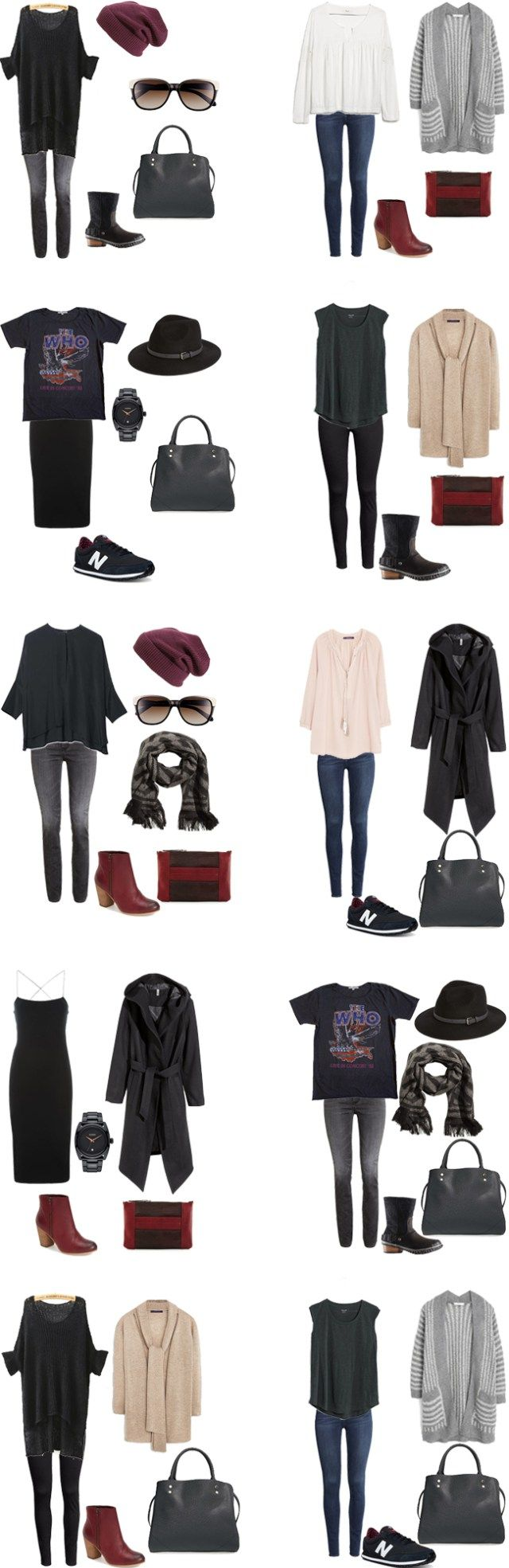 What to Wear in New York City Winter edition Outfits 1-10 #packinglight #travellight #traveltips
