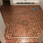 Top Catalogue Of Penny Floor And Copper Penny Tile Floor Inside Penny Floor Tile Regarding House