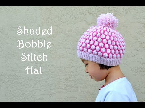 "This video is showing how-to knit ""Shaded Bobble Stitch"". This stitch is also called ""Blister Stitch"". This stitch can make a beautiful hat pattern, ""Shaded ..."