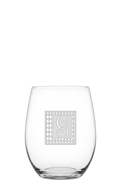Simplicity Red-Stemless Wine Glass from Jillian Chase