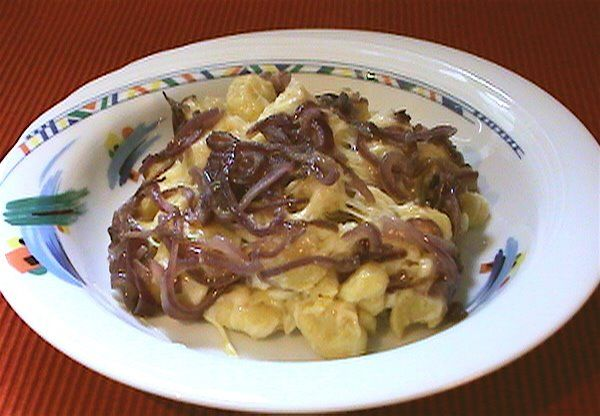 Allgaeuer Kaesespaetzle - Cheese Spaetzle from the Allgaeu...using Emmentaler & Bergkaese or Gruyere