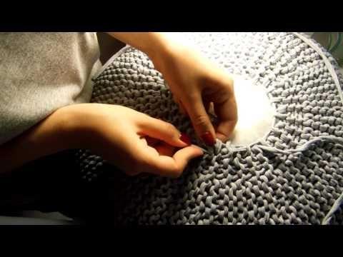 Finalização de puff de tricô - YouTube
