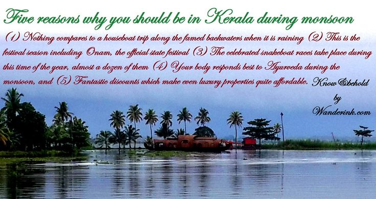 Five reasons to be in Kerala during the monsoon.