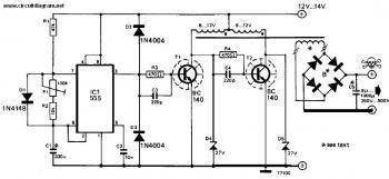 Inverter 12V DC to 240V DC circuit diagram in 2019