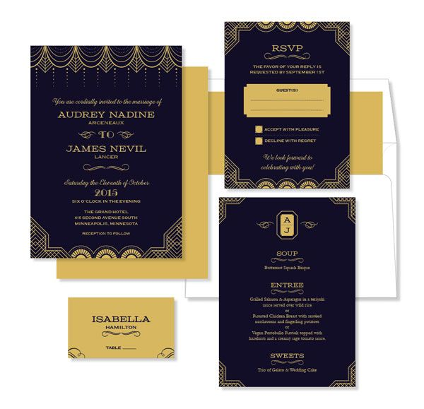 17 Best Images About Wedding Invitation On Pinterest Great Gatsby Theme Ar