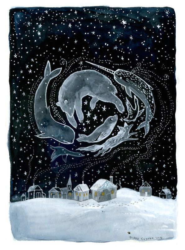 Arctic Night by Diana Sudyka | campsis on tumblr