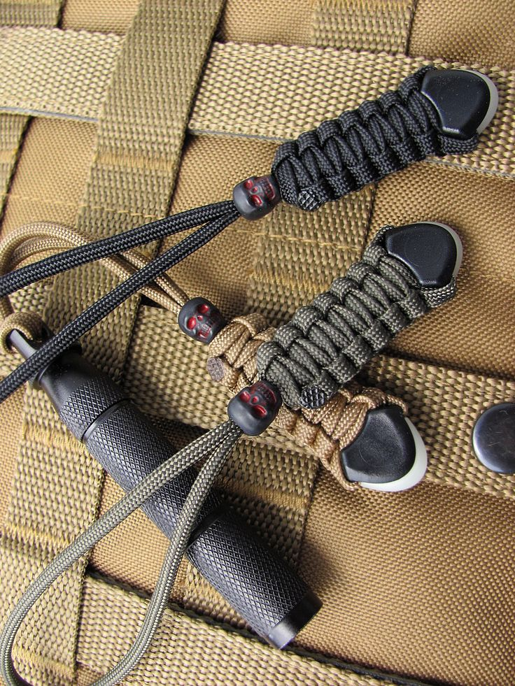 3 Tactical gear lanyards with black skull beads. Fits TAD Blackhawk 5.11 Use as knife lanyards camping zipper pulls bag ID 66 colors!