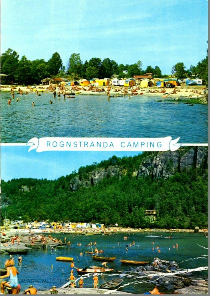 Telemark fylke Bamble kommune Rognstranda Camping 1970-tallet Utg Normann