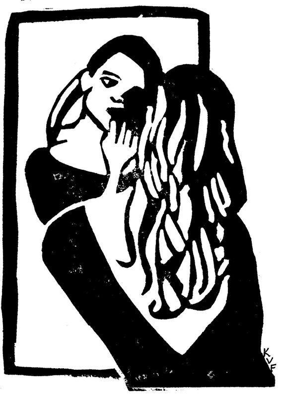 51 best images about linocut on pinterest film noir woman face and bette davis. Black Bedroom Furniture Sets. Home Design Ideas