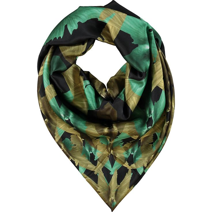 """Alva-Norge"" Black Dove Patterned Scarf - TK Maxx"