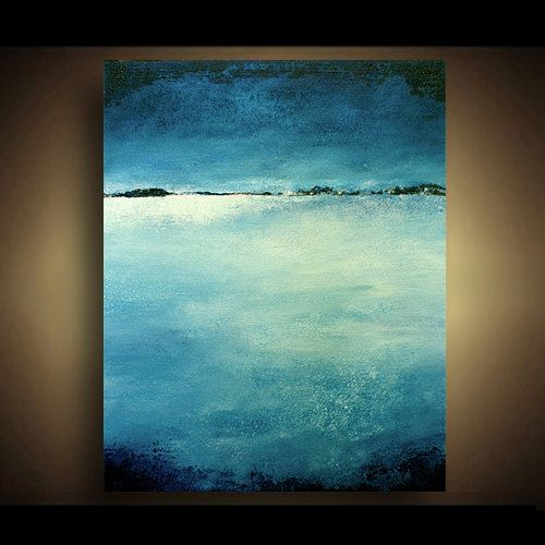 Contemporary Abstract Painting LANDSCAPE Abstract Art by Marie.