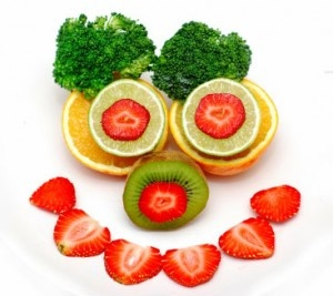 Smile! You're eating a healthy, balanced diet!