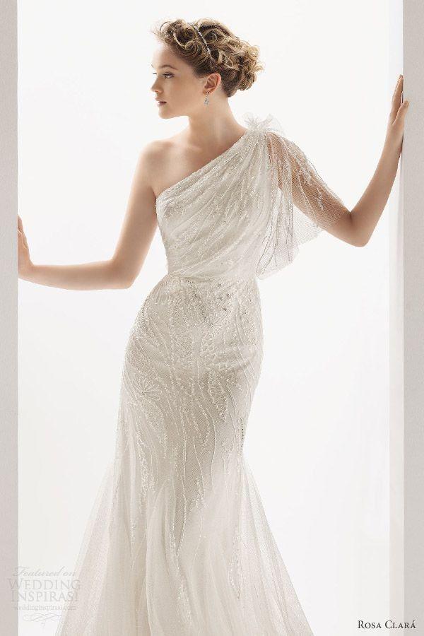 Best soft by rosa clara ucrania one shoulder wedding dress Love the one shoulder