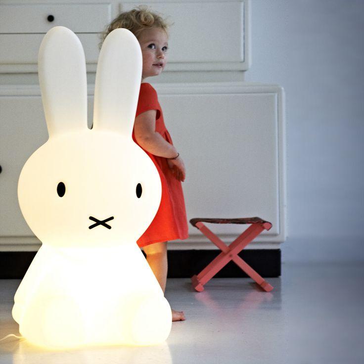 Mr Maria MIFFY XL - Lampe de sol lapin blanc H80cm