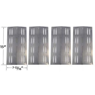 Grillpartszone- Grill Parts Store Canada - Get BBQ Parts,Grill Parts Canada: Patio Chef Heat Shield | Replacement 4 Pack Stainl...