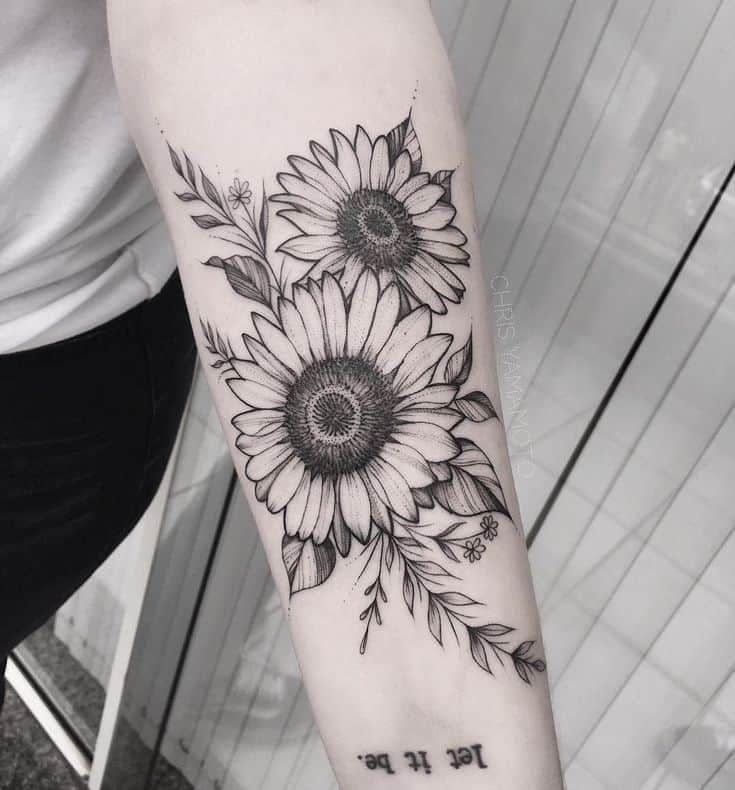 135 Sunflower Tattoo Ideas Best Rated Designs In 2021 Sunflower Tattoos Sunflower Tattoo Sleeve Sunflower Tattoo Shoulder