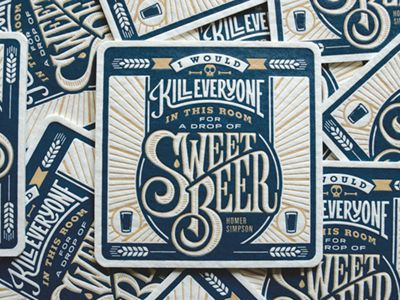 Dribbble - Beer Coasters by Scott Greci