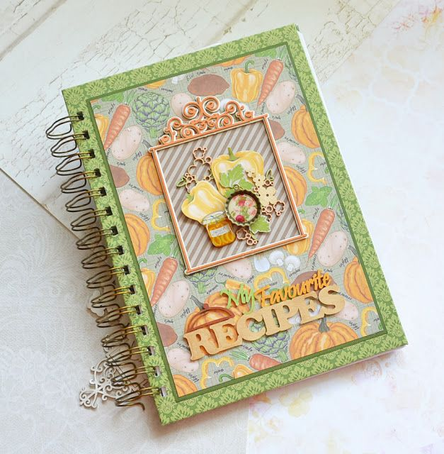 """Scrapiniec inspirations on blogspot: Step by Step Tutorial """"Recipes book"""" by Galachko"""