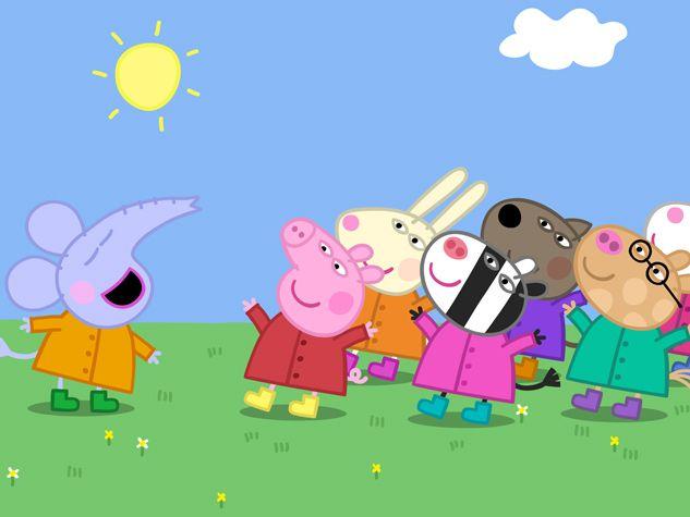 Peppa y su grupo de buenos amigos.