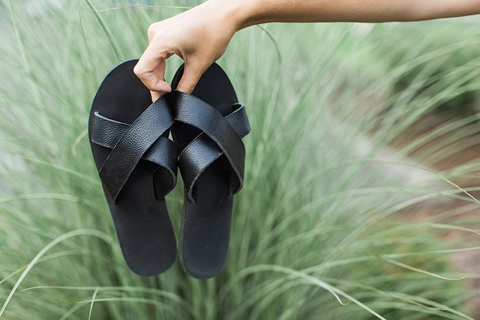 Perfect for fall too when paired with wool socks!! #crossoverslides #sandals