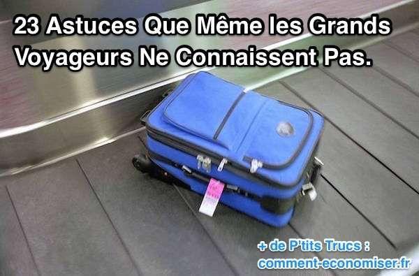 On a compilé une liste des meilleures astuces et p'tits trucs pour vous aider à éviter l'inévitable : à savoir, tous les problèmes et galères liés aux voyages en avion. Prêt ? Alors, c'est parti !  Découvrez l'astuce ici : http://www.comment-economiser.fr/23-astuces-que-meme-les-grands-voyageurs-ne-connaissent-pas.html?utm_content=buffer2a434&utm_medium=social&utm_source=pinterest.com&utm_campaign=buffer