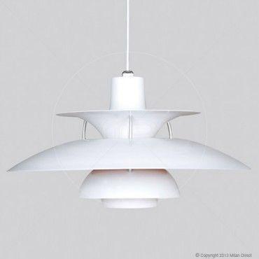 $159 Poul Henningsen PH 5 Pendant Lamp - White - Replica - Milan Direct