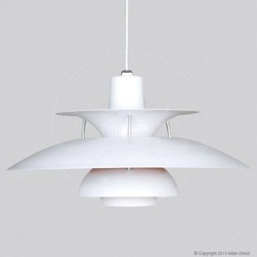 $159 Poul Henningsen PH 5 Pendant Lamp - White - Replica - Milan Direct