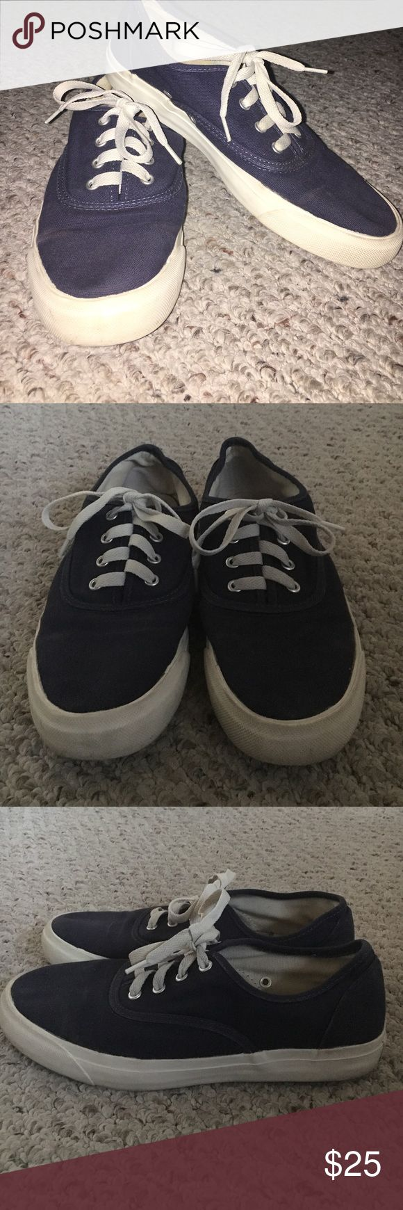 Vans Navy blue, white sole. Pro-keds. Super comfortable! Make an offer, all of my prices are negotiable. Questions are welcomed and model pictures are available upon request! Bundle these shoes with other items from my closet and receive a discount on your whole purchase! pro-keds Shoes Sneakers