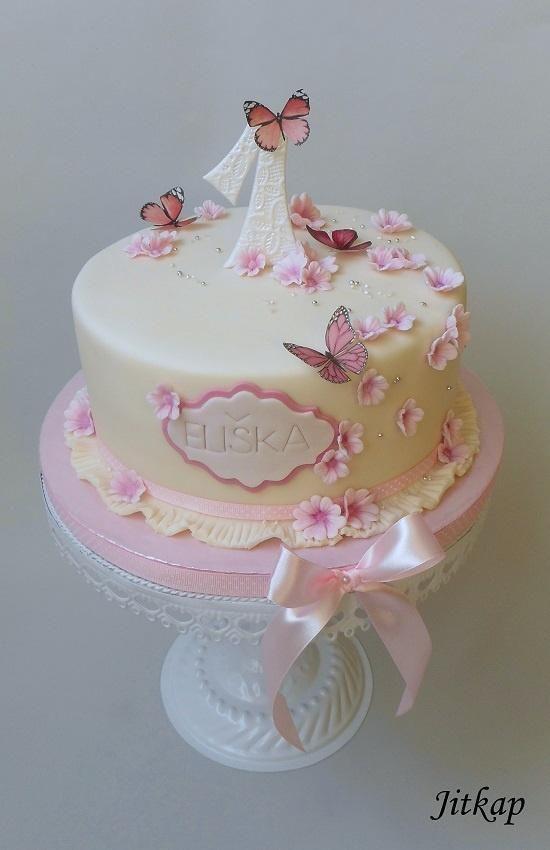 Kytičkový pro Elišku torta, ostané torty pre deti